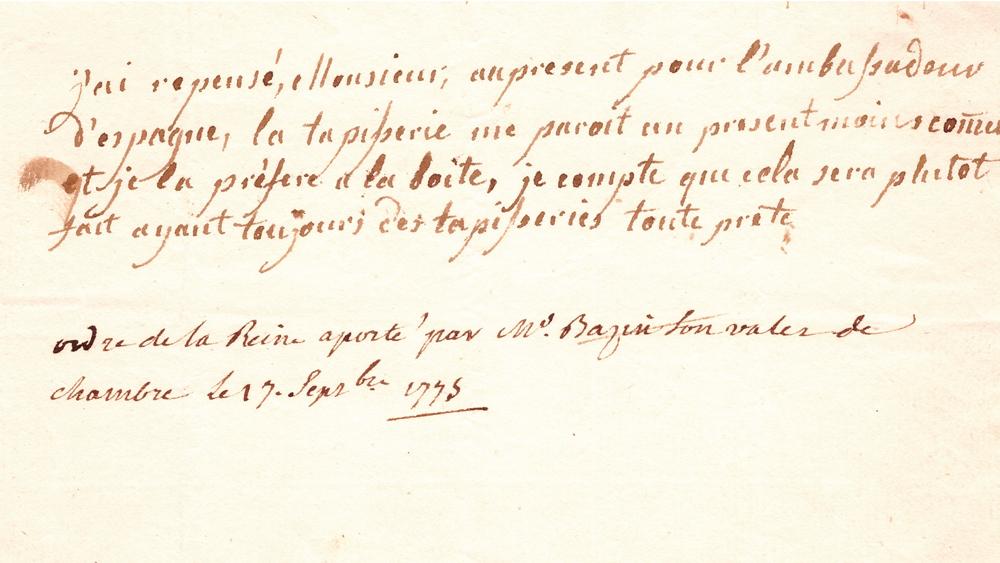 Queen Marie-Antoinette note
