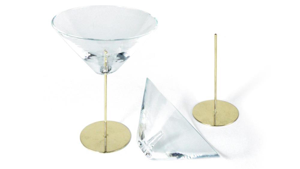 Vanessa Mitrani bronze and glass martini glasses