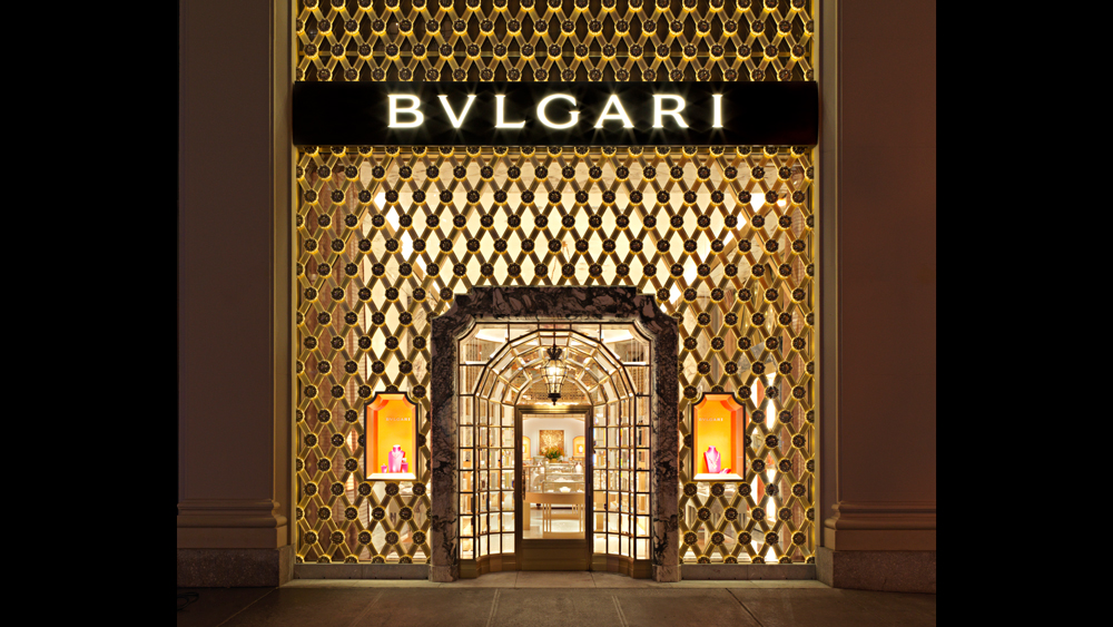 Entrance to Bulgari flagship in NYC