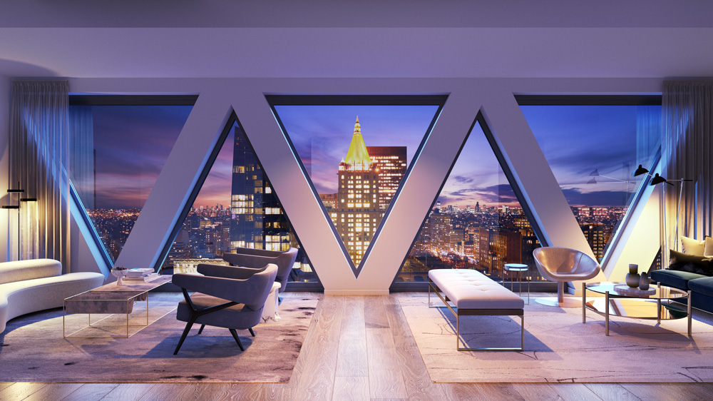 Living room in New York City apartment