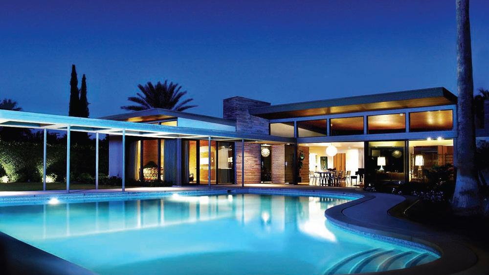 Frank Sinatra Twin Palms Estate night