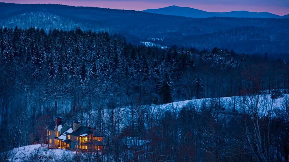 Twin Farms winter night