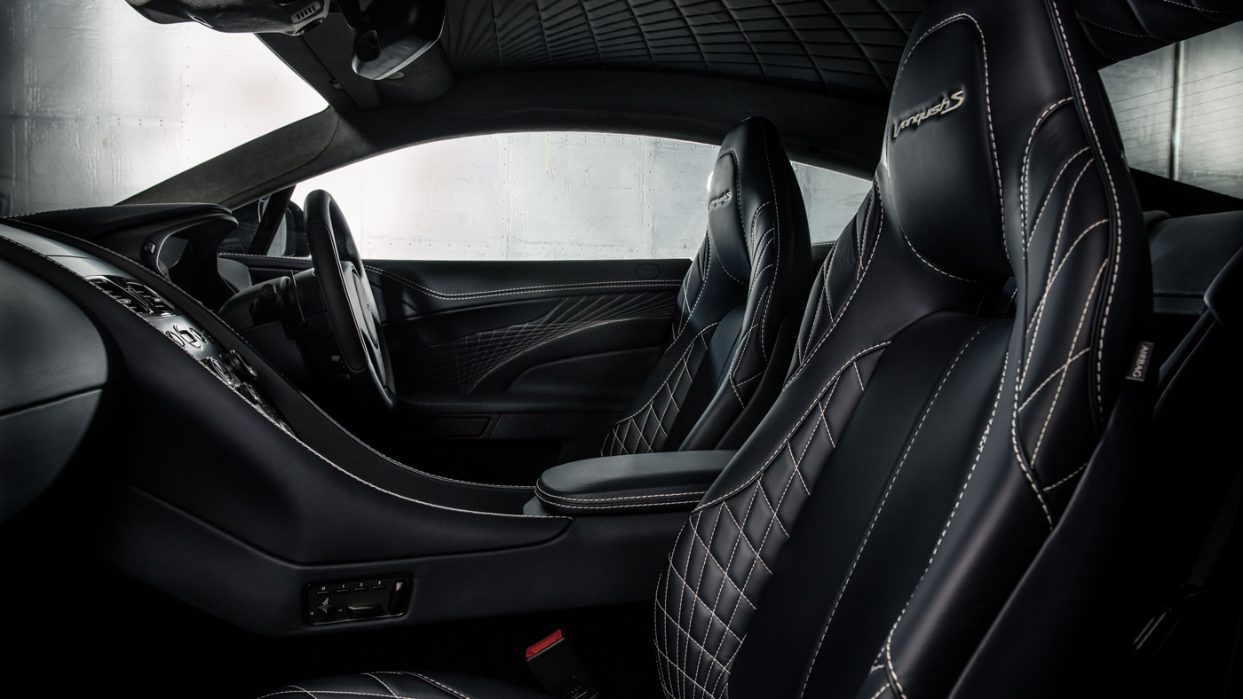 The interior of the 2018 Aston Martin Vanquish S Coupe.