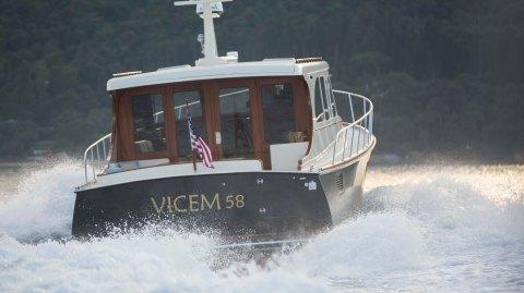 Vicem V58 yacht Turkey cold-molded
