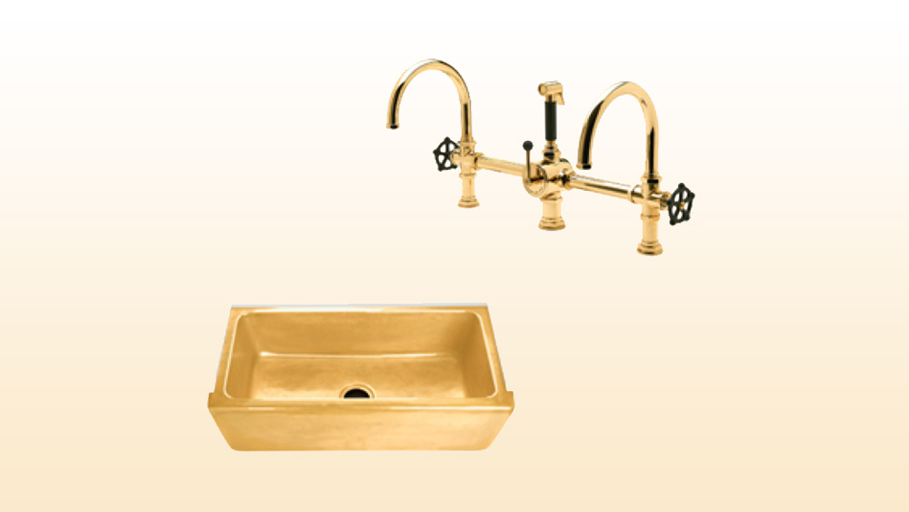 Waterworks Normandy sink and Regulator faucet