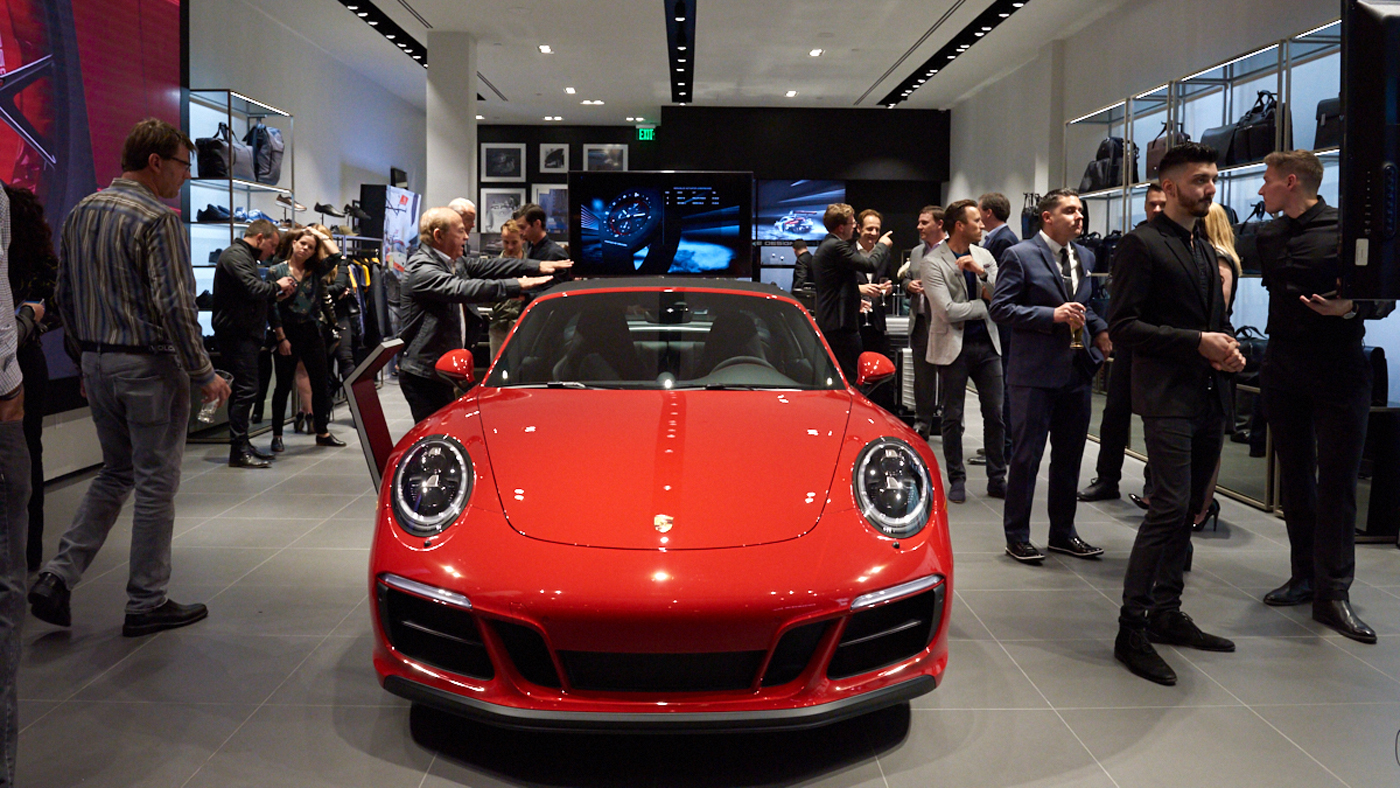 The grand opening of the Porsche Design store in Costa Mesa.