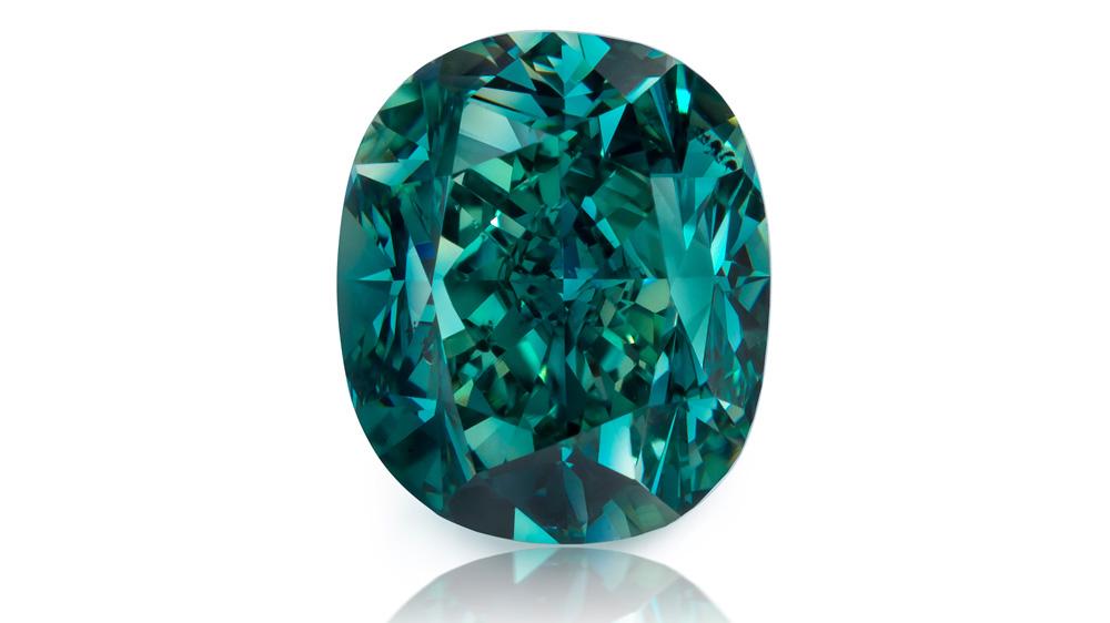 2.09 carats of Fancy Deep Blue Green