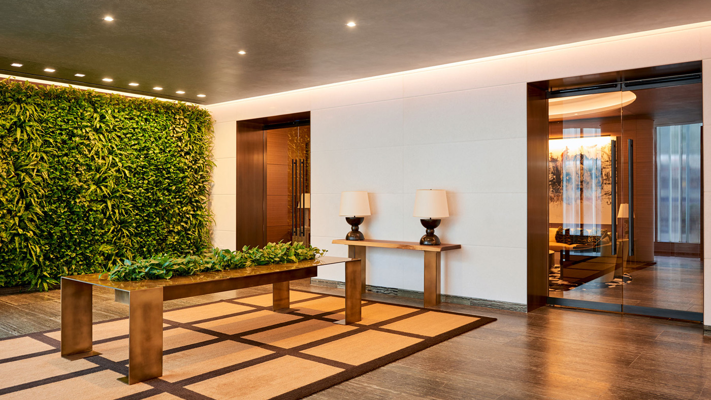 Living Green Wall at Luxury Building