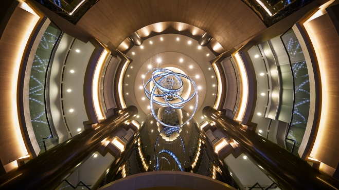 Futuristic hotel lobby Kuala Lumpur
