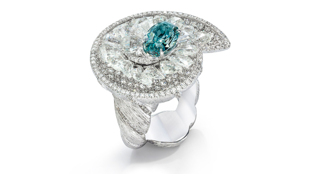Diamond ring by Arun Bohra of Arunashi