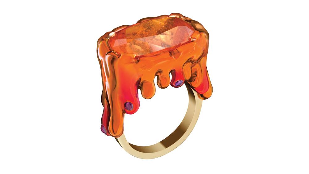 Solange Azagury-Partridge Blood Orange ring