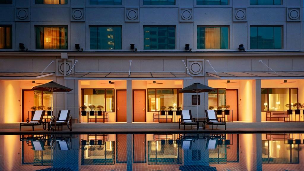 cabana poolside room luxury hotel