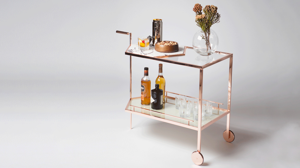 Avenue Road special edition bar cart and tabletop