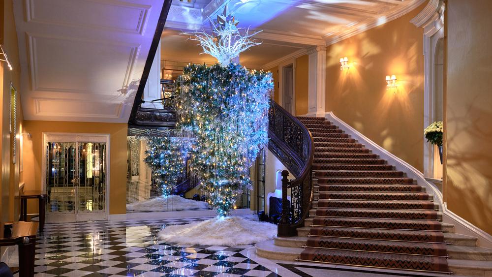 Claridge's Karl Lagerfeld christmas tree