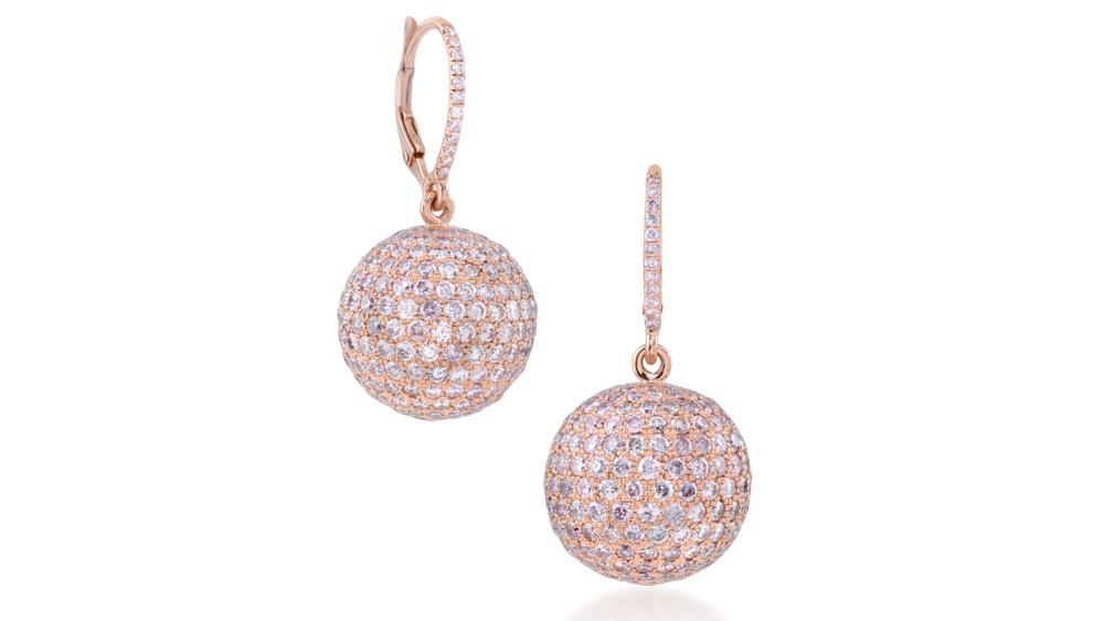 Lugano Pink Diamond earrings