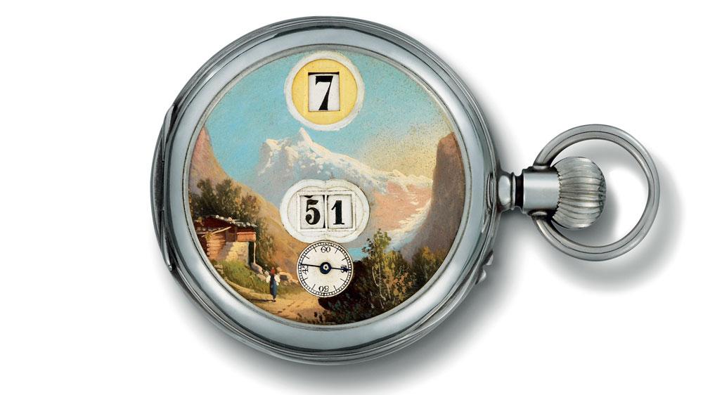 Digital pocket dial watch