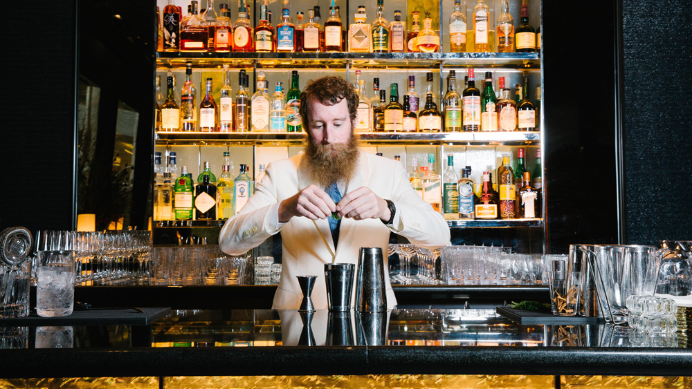 Bartender Thomas Waugh the Pool Lounge