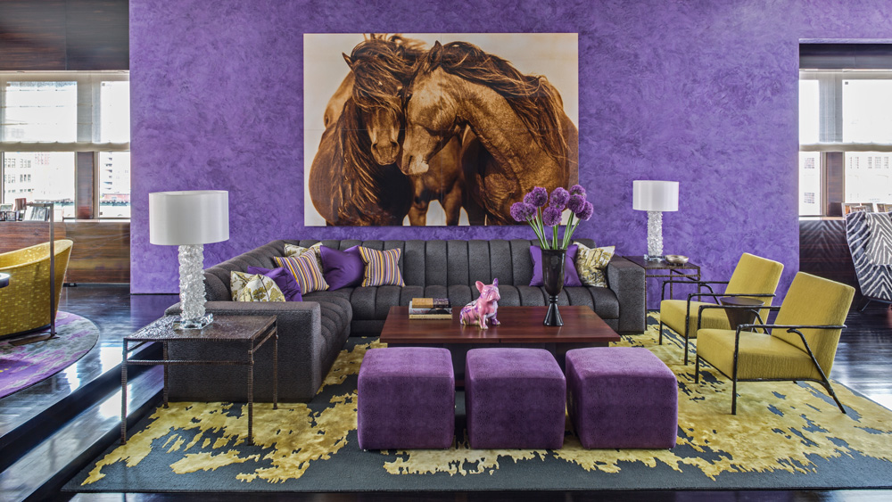 Jamie Drake purple interior