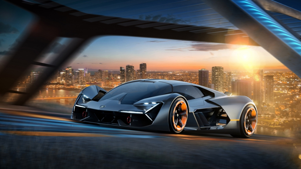 A rendering of the Lamborghini Terzo Millenio Concept.