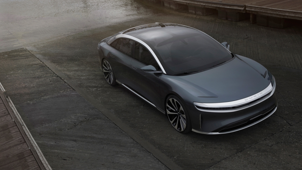 The all-electric Lucid Air automobile.