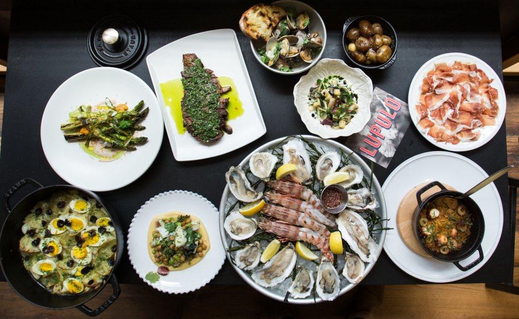 seafood steak charcuterie