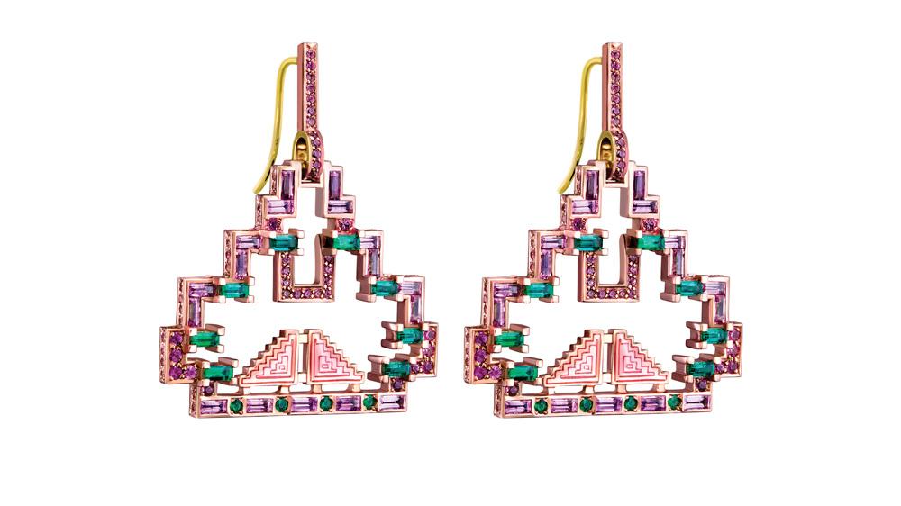 Solange Azagury-Partridge Mayan earrings