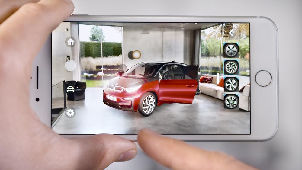 BMW i Visualizer App augmented reality showroom