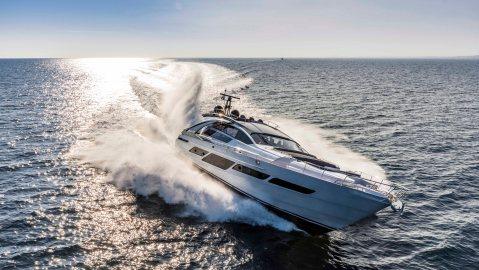 Pershing 9X Yacht Italian superyacht Poltrona Frau