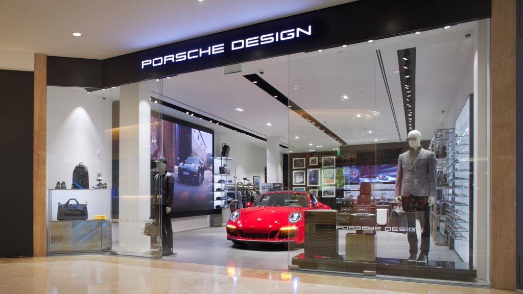 The newly opened Porsche Design concept store in Costa Mesa's South Coast Plaza.