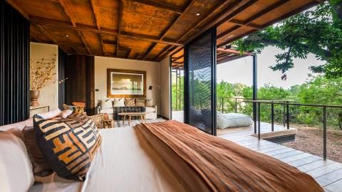 Modern safari lodge in Botswana