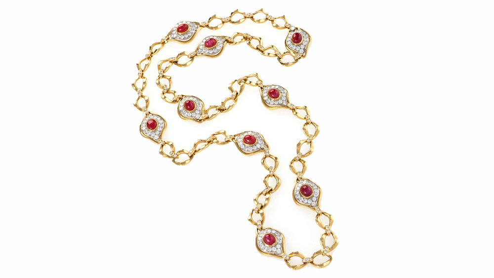 Macklowe gold ruby necklace