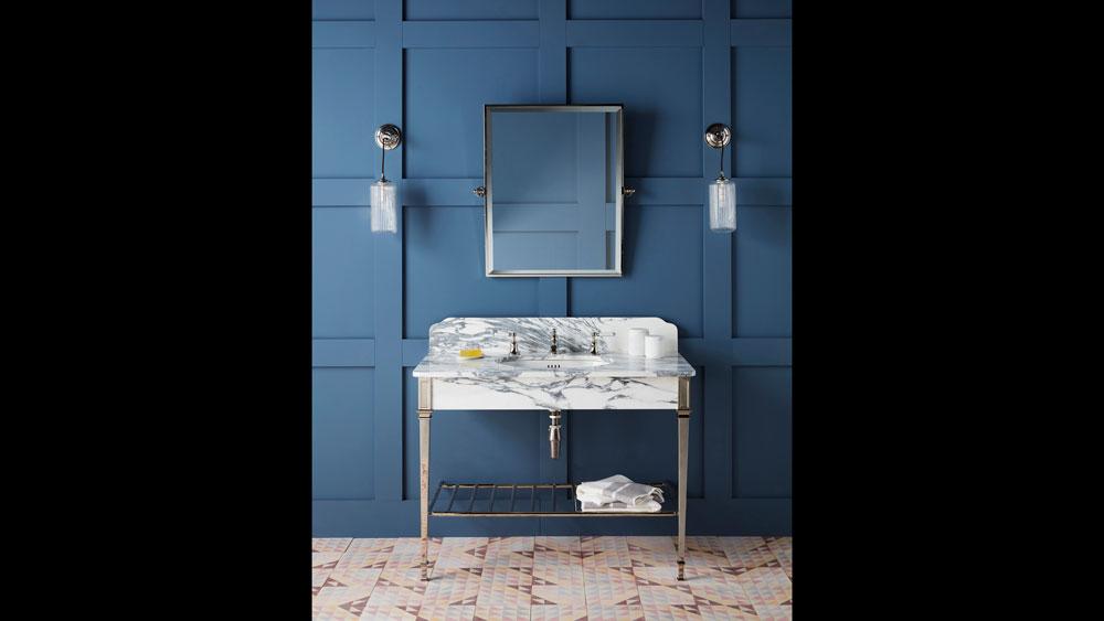Drummonds marble bath vanity