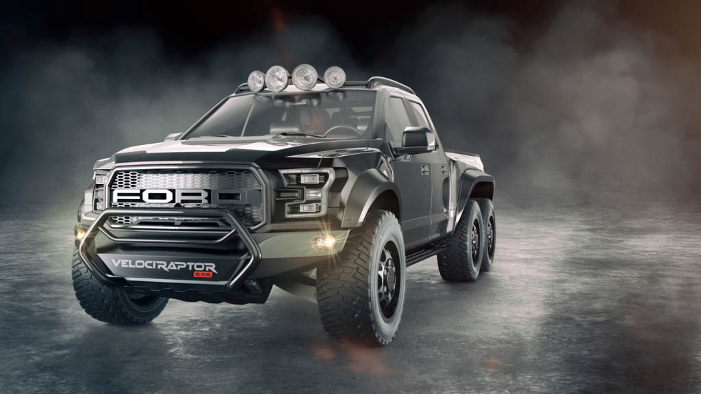 The VelociRaptor 6x6 by Hennessey Performance Engineering.