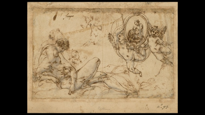 Jacopo Pontormo Mercury and Astraea drawing