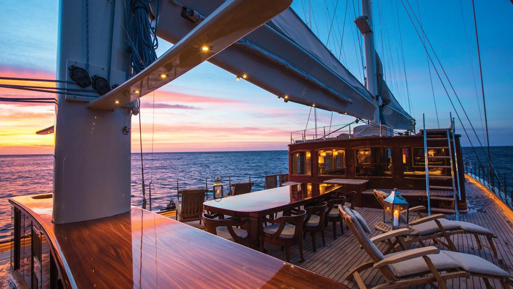 Satori yacht sunset