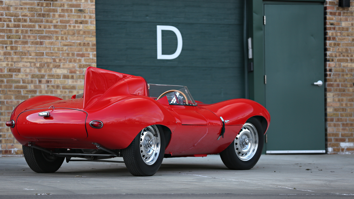 The 1956 Jaguar D-Type.being offered by Gooding & Company at its 2018 Scottsdale Auctions.