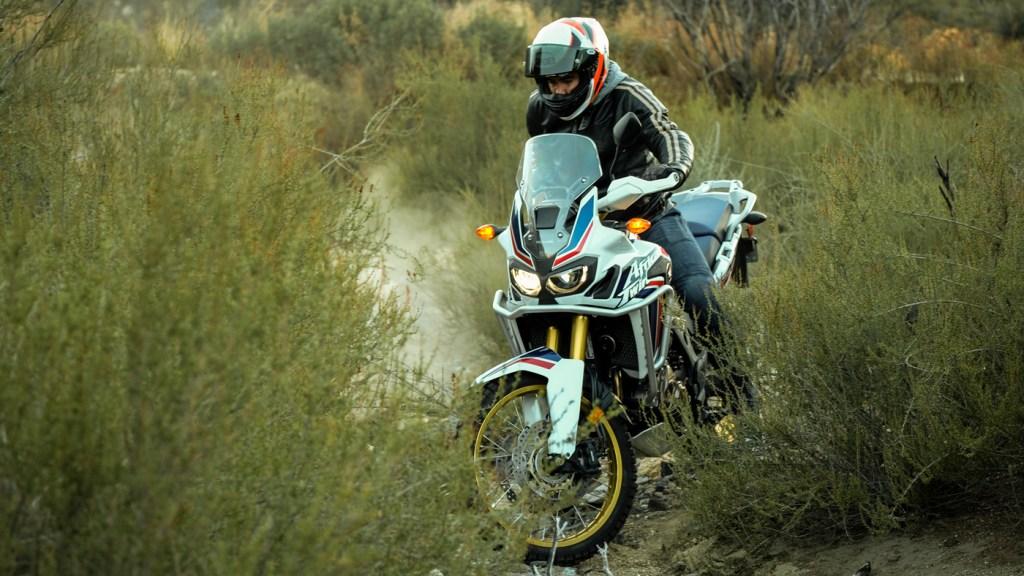 Honda's Africa Twin CRF1000L adventure motorcycle.