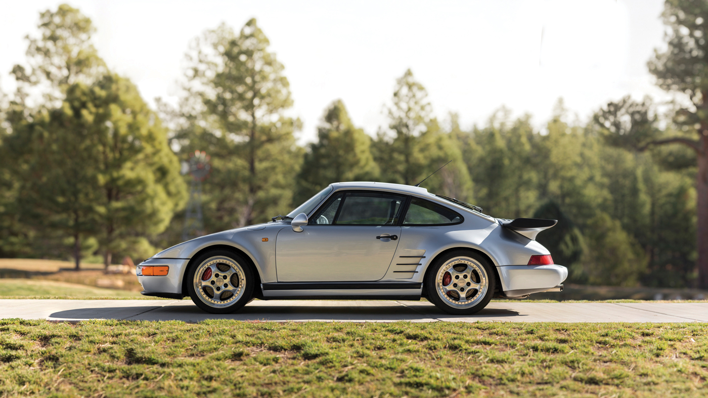 The 1994 Porsche 911 Turbo S X83 'Flachbau' at the RM Sotheby's 2018 Amelia Island Sale.
