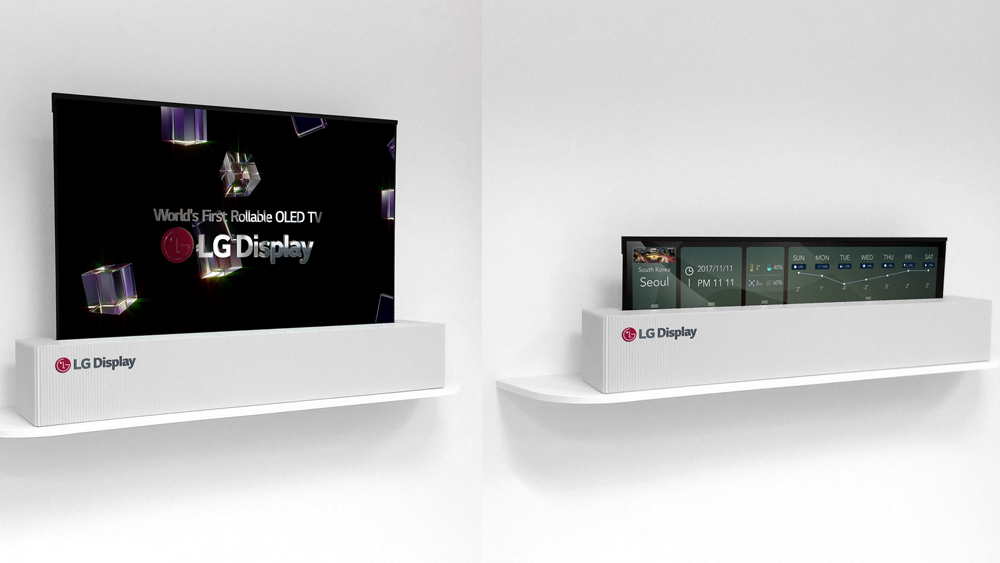 LG rollable OLED display