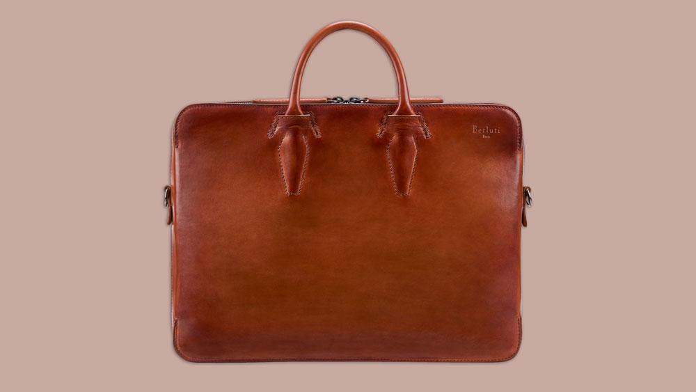 Berluti Profil 1 leather briefcase