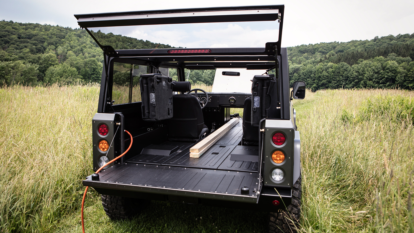 The Bollinger B1, an all-electric sport utility truck.