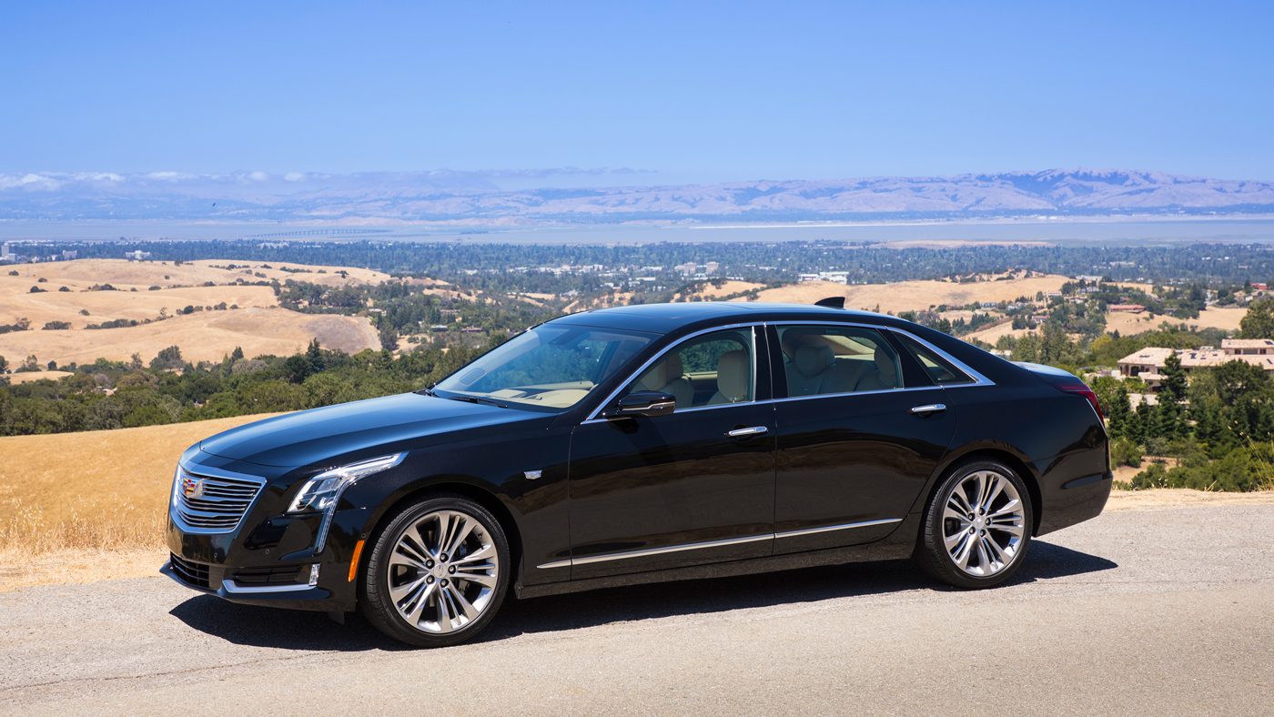 A Cadillac CT6 sedan with the Super Cruise feature.