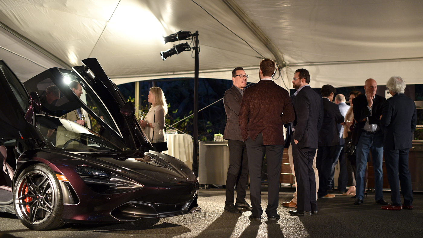 Judges converse during the 2018 Robb Report Car of the Year contest in Napa, Calif.