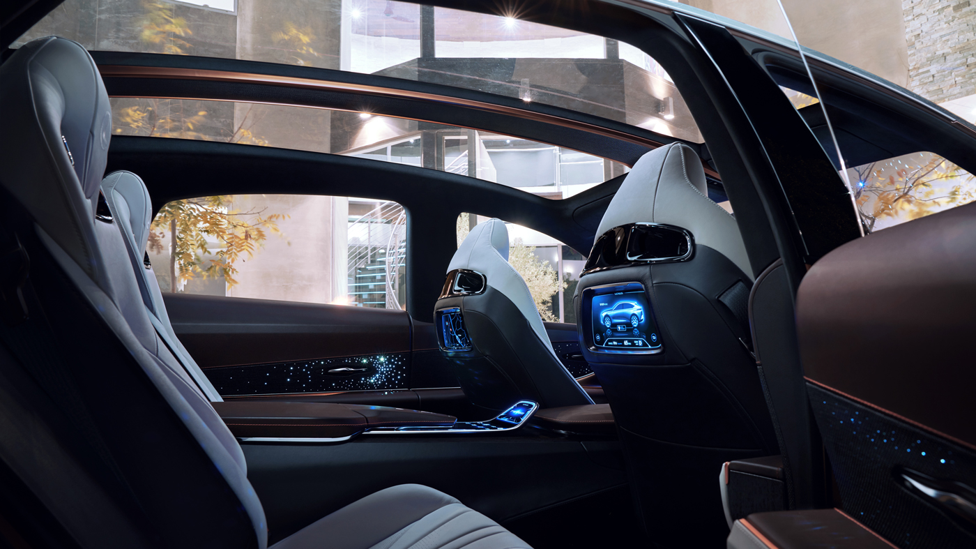 Interior view of the Lexus LF-1 Concept.