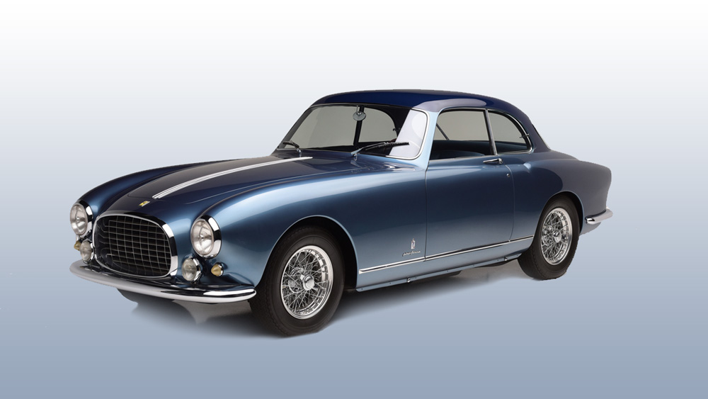 A 1952 Ferrari 212 Europa.