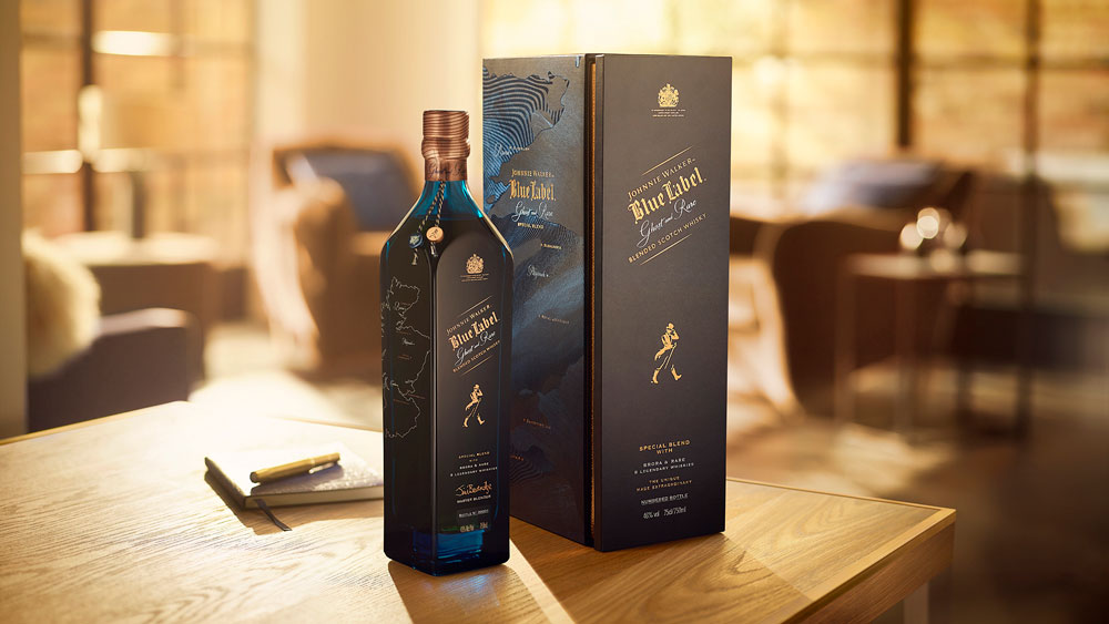 Johnnie Walker Blue Label Ghost and Rare Scotch Whisky