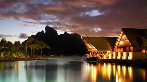 Four Seasons Resort Bora Bora night