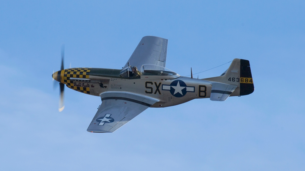 Military Aviation Museum North American P-51D vintage plane