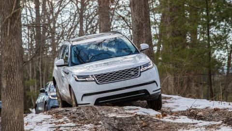 The 2018 Range Rover Velar in the woods.