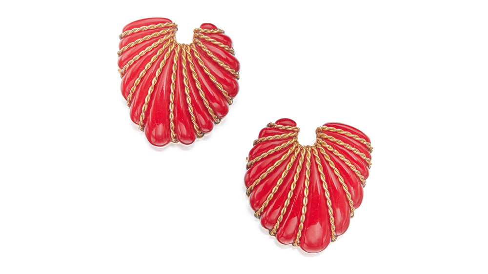 Sotheby's coral brooches